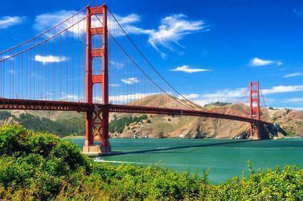 Die Golden Gate Bridge in San Francisco, Vereinigte Staaten