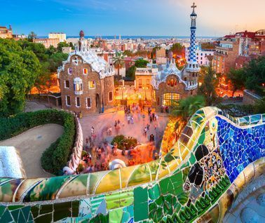 Guell Park στη Βαρκελώνη της Ισπανίας