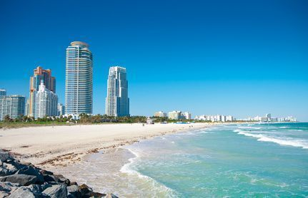 Playa de Miami en Florida, Estados Unidos