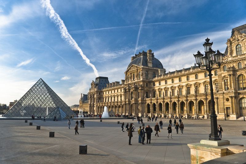 Paris - Exterior of the Louvre Museum, France