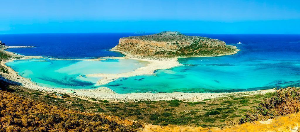 Balos beach on the greek island of Crete