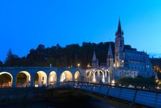 Lourdes Basilica Sanctuary Cathedral France